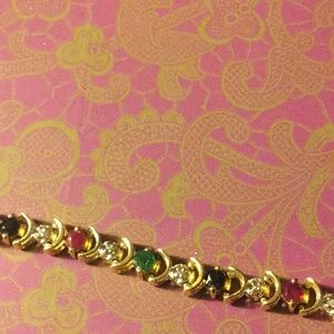 Jewelry - Multi gem 10k gold bracelet